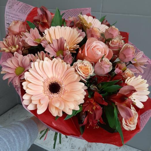 Цветочная мозаика: букеты цветов на заказ Flowwow