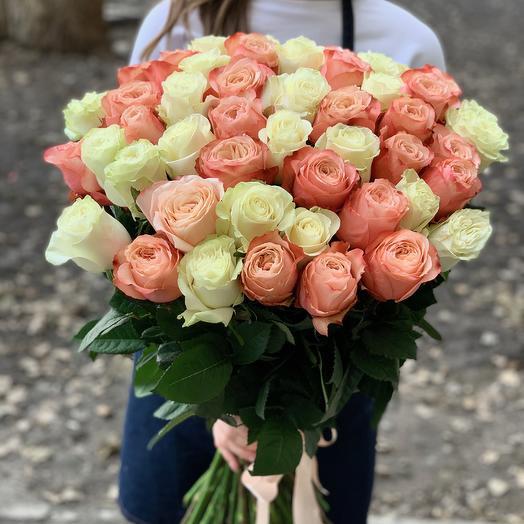 51 роза Kahala+Mondial