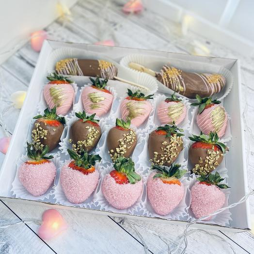 Романтичная клубника в шоколаде: букеты цветов на заказ Flowwow