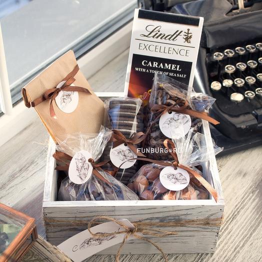 Подарочный набор «Шоколадный»: букеты цветов на заказ Flowwow