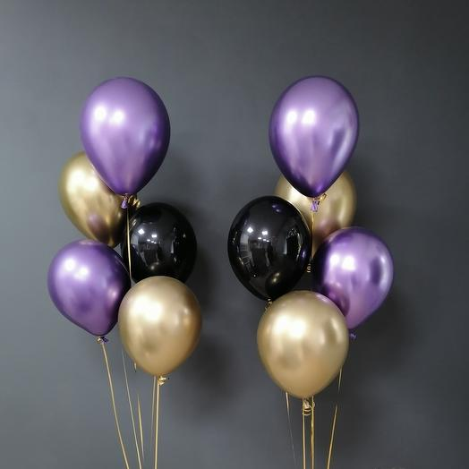 Композиция из шаров с шарами Хром