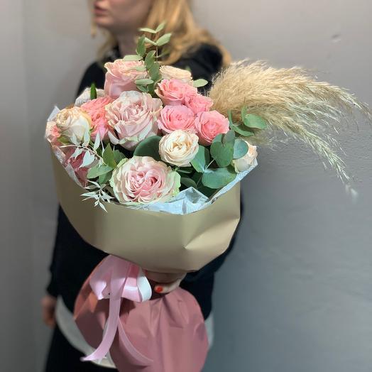 Пудровый с сухоцветами