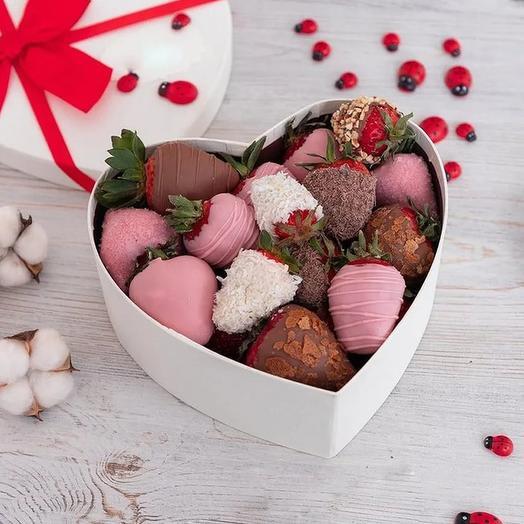 Набор клубника в Шоколаде Сердце 6