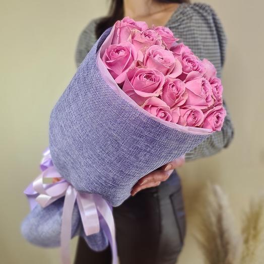 """Монобукет из 15 роз """"Лесная ягода"""""""