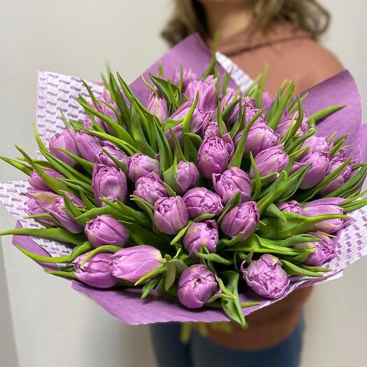 Роскошные пионовидные тюльпаны