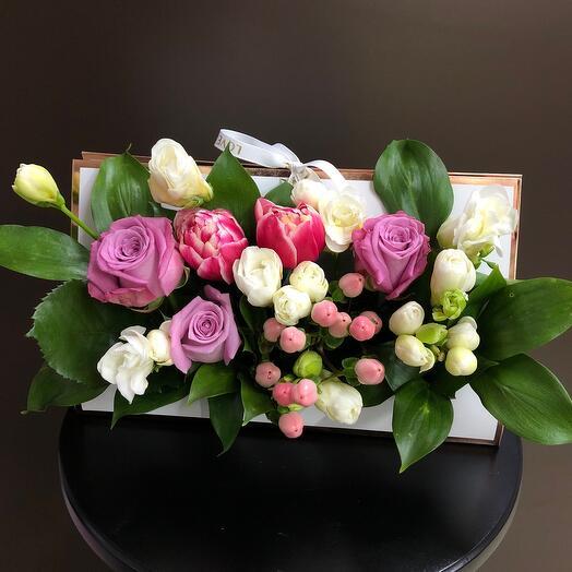 Сумочка с микс цветами