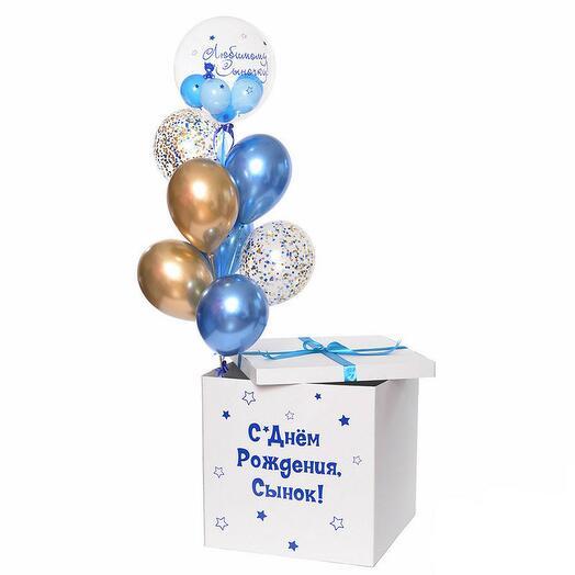 Шары в коробке на День Рождения 4