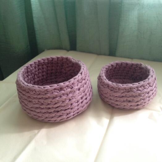 Комплект текстильных корзиночек