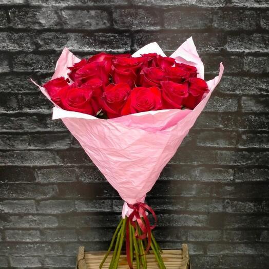 Акция моно-букет из Эквадорской розы Фридом 80см