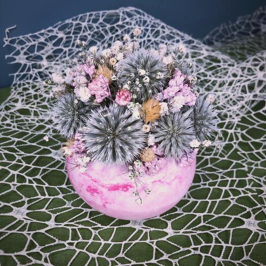 Розовые сухоцветы