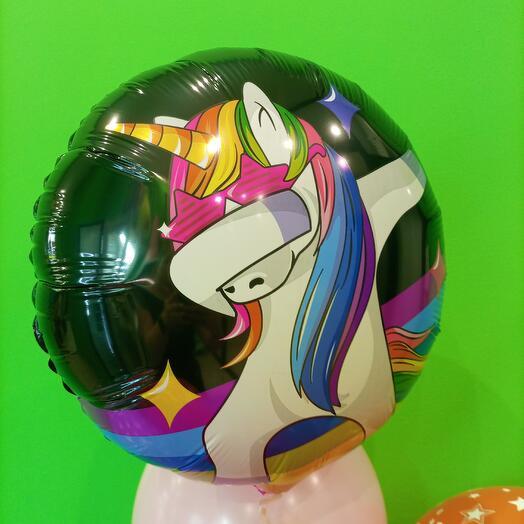 Фольгированный шар Единорог  46 см