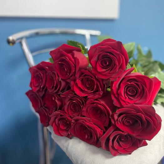 Роза Красная 11 шт. 60см