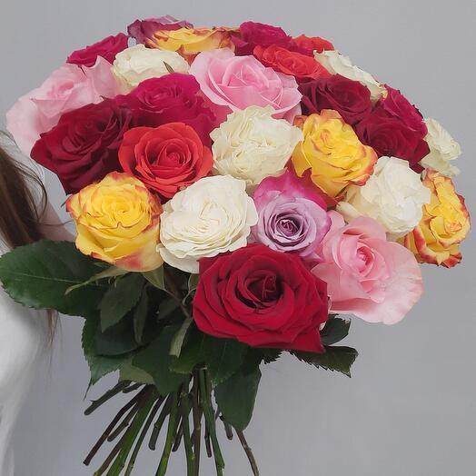 25 роз под ленту