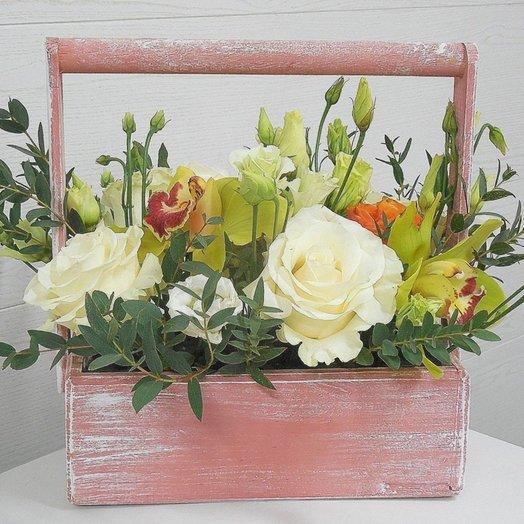 Цветочный ящичек ДЕКО: букеты цветов на заказ Flowwow