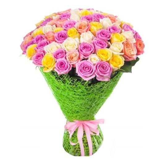 Букет Сказочный микс из 51 розы: букеты цветов на заказ Flowwow
