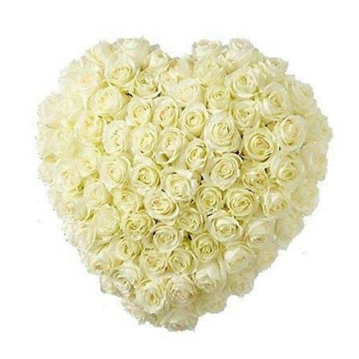 Сердце из роз (51 шт): букеты цветов на заказ Flowwow
