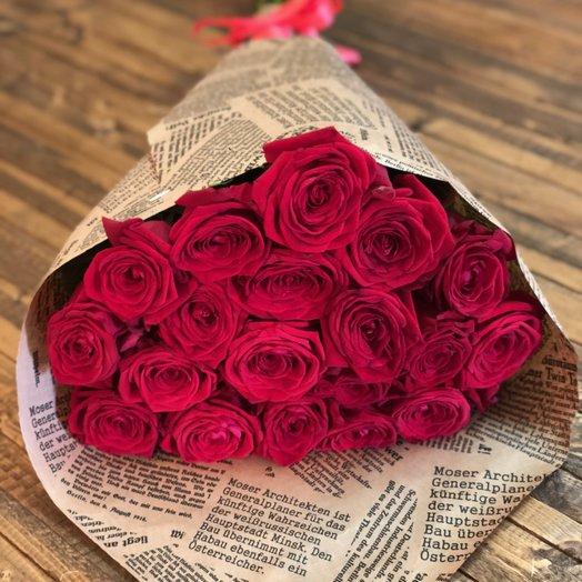 19 роз Рэд Наоми: букеты цветов на заказ Flowwow