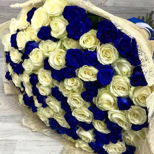 Букет из 101 одна роза