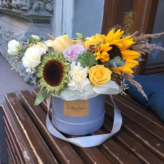 Стильная осенняя коробочка: букеты цветов на заказ Flowwow