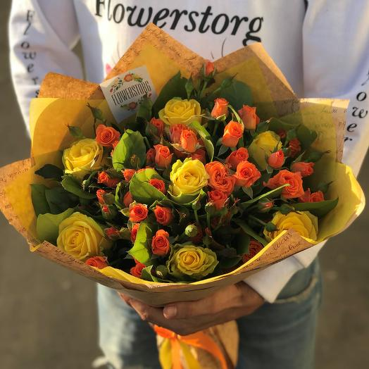 Букет из роз. Кустовые розы , желтая роза . N281: букеты цветов на заказ Flowwow