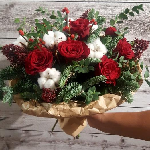 Зимний вечер: букеты цветов на заказ Flowwow