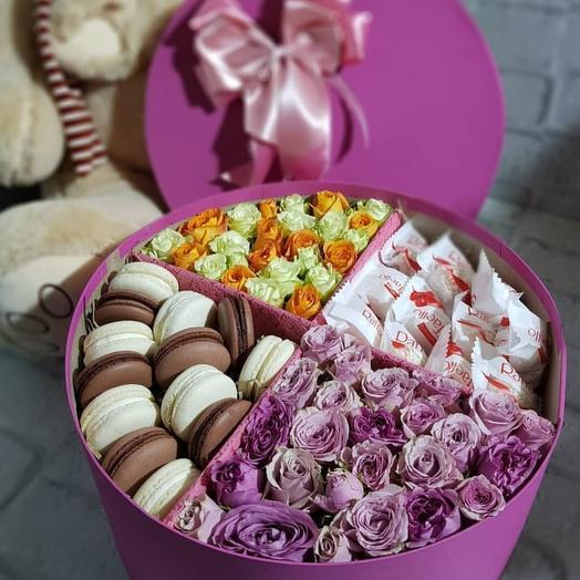 Коробочка на 4 секции с цветами: букеты цветов на заказ Flowwow