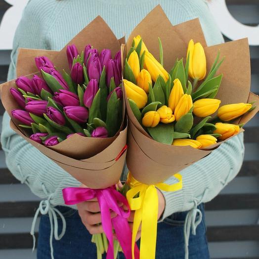Букет с тюльпанами 25 шт