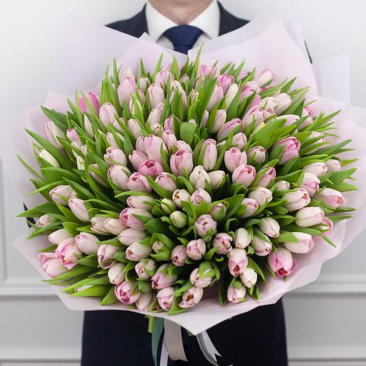 Букет из 151 голландского тюльпана: букеты цветов на заказ Flowwow