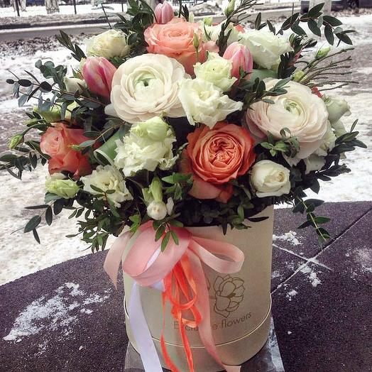 Коробка с цветами 10: букеты цветов на заказ Flowwow