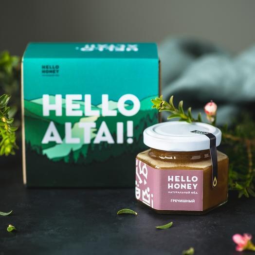Подарочный набор мёда «Hello, Altai!», одна банка: букеты цветов на заказ Flowwow