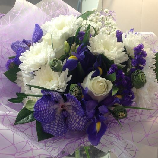 Очарование синего: букеты цветов на заказ Flowwow