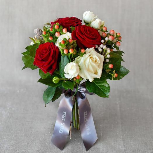 """Компактный букет """"Вена"""": букеты цветов на заказ Flowwow"""