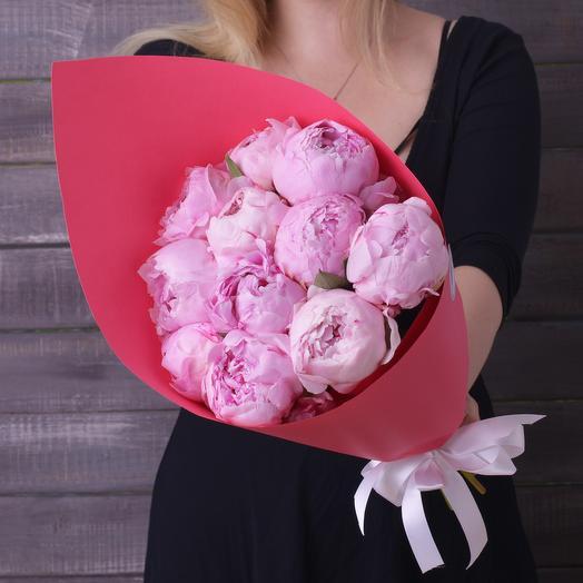 Букет 11 Пионов: букеты цветов на заказ Flowwow