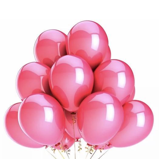 Облако из шаров розовый металлик: букеты цветов на заказ Flowwow