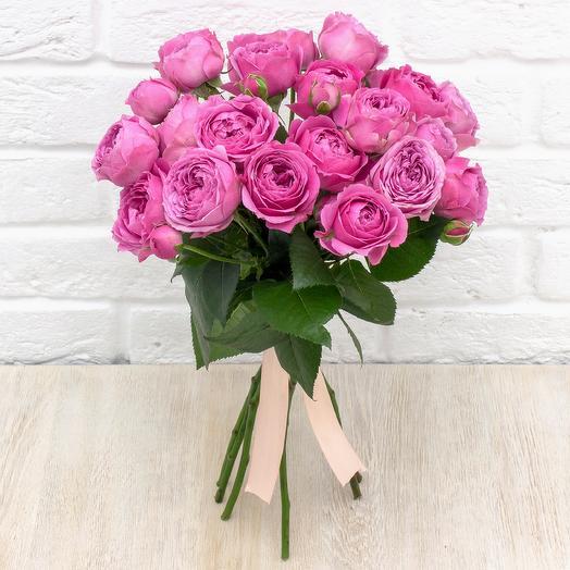 """5 пионовидных роз """"Мисти Баблс"""""""