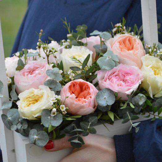 """Цветы в ящике """"Нежность"""": букеты цветов на заказ Flowwow"""