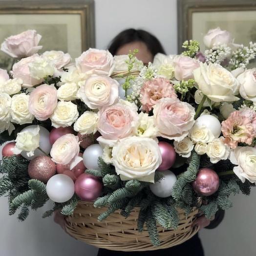 Роскошная премиум корзина: букеты цветов на заказ Flowwow