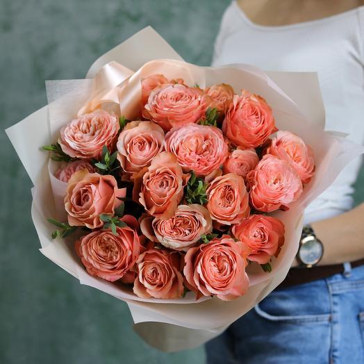 """Пионовидные розы """"Кахала"""": букеты цветов на заказ Flowwow"""