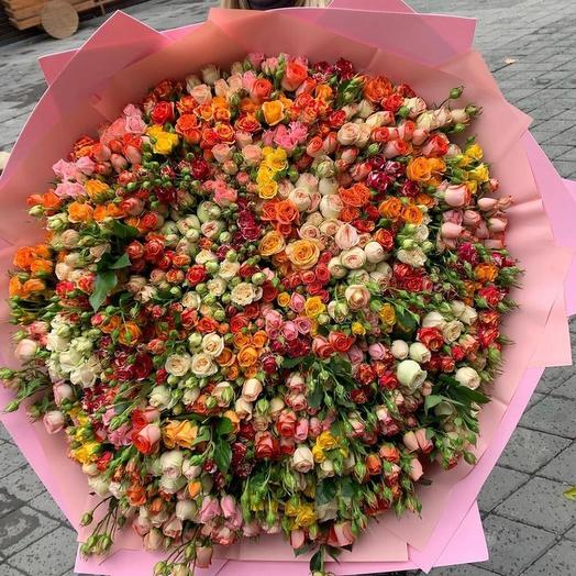 151 кустовая роза микс: букеты цветов на заказ Flowwow