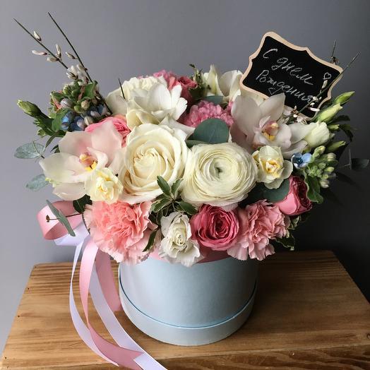 Коробочка дня с лютиком: букеты цветов на заказ Flowwow