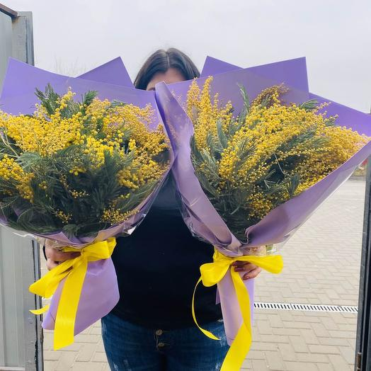 Букет из мимозы: букеты цветов на заказ Flowwow