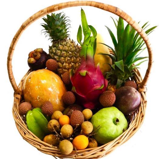 Корзина экзотических фруктов «один день на острове»