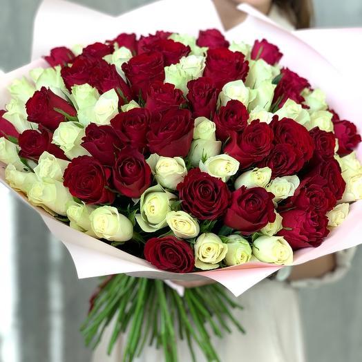 Букет из 101 кенийской розы микс