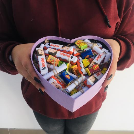 """Коробочка со сладостями и пожеланиями """"Для тебя"""""""