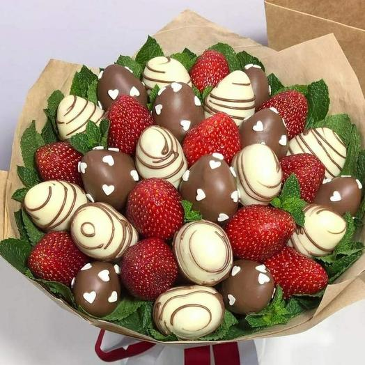 Bouquet of strawberries in chocolate 2m
