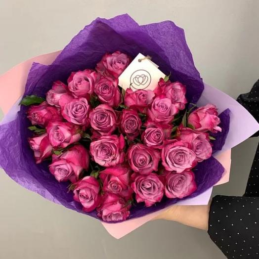Букет из сиреневых кенийских роз