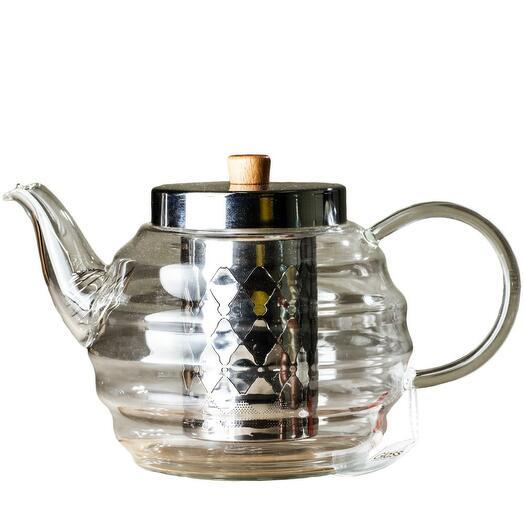 чайник с ситом, стекло, 1000 мл 1 шт