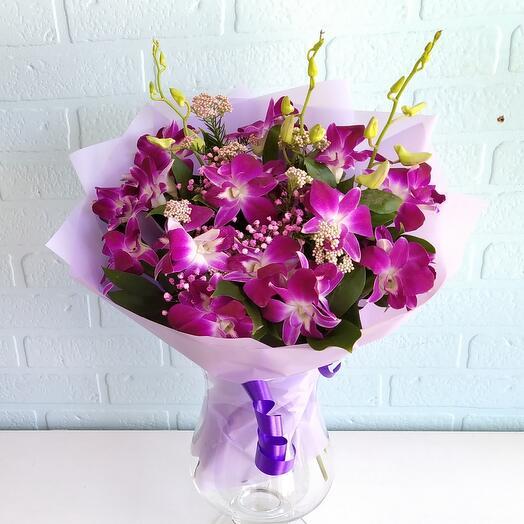 Букет Облачко из орхидей