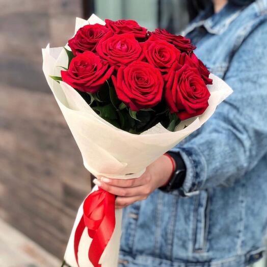 Роза 9 штук