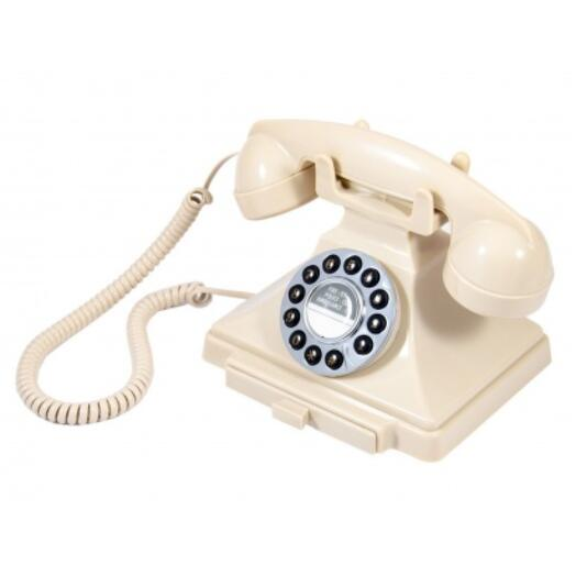 "Телефон ретро ""Белый оникс"""